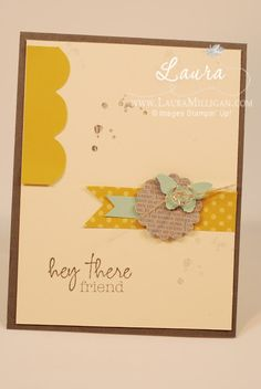 "Laura Milligan, Stampin' Up! Demonstrator - I'd Rather ""Bee"" Stampin!  www.lauramilligan.com  Paper Pumpkin, Stampin' Up! demonstator, Quick Cards, Stamping, stampin"