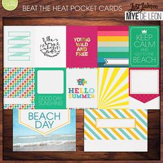 Beat The Heat Pocket / Journal Cards Collab by My De Leon on Just Jaimee at The Lilypad