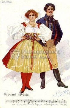 Czech couple in folk costume