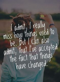 I admit..