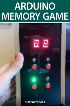 Rehaan33 created an Arduino powered memory game with a 2x2 button layout that tests your ability to remember the blinking pattern. #Instructables #electronics #technology #Fusion360 #toy Useful Arduino Projects, Fusion 360, Memory Games, User Interface, How To Memorize Things, Layout, Toy, Memories