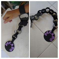 Uma cadena de GOMA EVA con bola de pecado Más