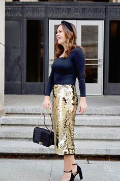 my everyday style: 3 ways to style a sequin skirt for the holidays! Bar Outfits, Night Club Outfits, Cool Outfits, Casual Outfits, Vegas Outfits, Woman Outfits, Winter Outfits, Everyday Outfits, Everyday Fashion