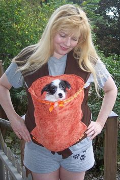 Sewing Pattern--------- Heart to Heart hands free comfort dog carrier. $5.00, via Etsy.