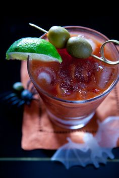 Maurice's Madness: 1 ¼ oz. Citadelle Gin, ¼ oz. Vieux Pontarlier Absinthe, 4 oz. Bloody Mary Mix. Place all in an ice filled cocktail glass. Roll into a Boston Shaker to mix. Garnish with a lime wedge and a green olive.