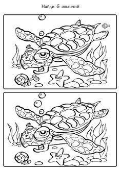 Найди отличия. Черепаха