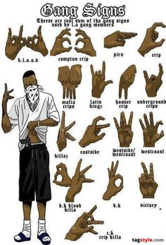 Hoover Gang Hand Sign