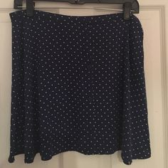 Polka dot skirt Navy blue with white polka dots, buttons in front Skirts
