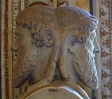 Jano (en latín Janus) es, en la mitología romana, un dios que tenia dos caras mirando hacia ambos lados de su perfil, padre de Fontus. Jano era el dios de las puertas, los comienzos y los finales. Por eso le fue consagrado el primer mes del año (que en español pasó del latín Ianuarius a Janeiro y Janero y de ahí derivó a Enero).