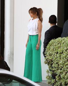 Jennifer Lopez. Even hot in a ponytail!
