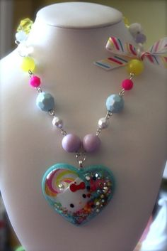 Hello Kitty in Candyland necklace,  athinalabella (Etsy)