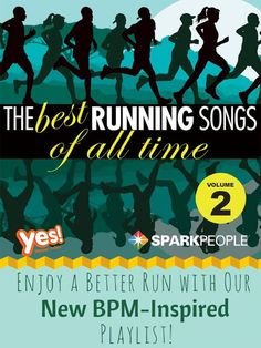 The Best Running Songs of All Time (Volume Two!) This playlist is designed to help you run faster and longer with infectious beats and a BPM-optimized rhythm! | via @SparkPeople #running #exercise #fitness #workout #motivation #runningmusic