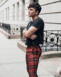 mensfashion  menswear  cropped  xadrez Man Dressing Style, Moda Men, Urban 5a89370966c