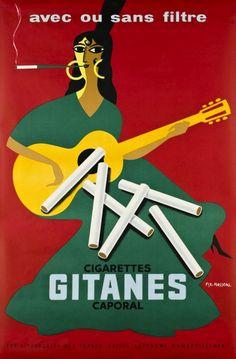 publicite-francaise:  Pierre Fix-Masseau - Cigarettes Gitanes Caporal, 1957.