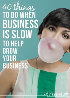 Here are --> 40 Things to Do When Business is Slow (to help grow your business). These are great tips + activities for your business as you grow. Self Employment Entrepreneur, Small business Business Help, Craft Business, Business Advice, Growing Your Business, Business Planning, Starting A Business, Creative Business, Online Business, Business Management