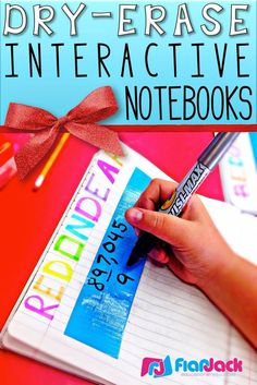 FlapJack Educational Resources: Dry-Erase Interactive Notebooks with simple strips of duct tape. Great way to frequently practice certain skills.