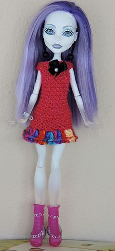 Ravelry: Monster High dress 3 pattern by Diane Crutchley
