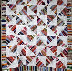 recyklácia-triangels Quilts, Blanket, Handmade, Hand Made, Quilt Sets, Blankets, Log Cabin Quilts, Cover, Comforters