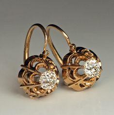 Antique Victorian Era Old Mine Diamond Gold Openwork Earrings - Antique Jewelry . - Antique Victorian Era Old Mine Diamond Gold Openwork Earrings – Antique Jewelry … - Antique Earrings, Opal Earrings, Antique Jewelry, Vintage Jewelry, Antique Decor, Lace Earrings, Cluster Earrings, Jewelry Armoire, Antique Brass