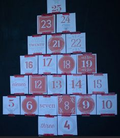 This Free Printable Advent Calendar is here for you in red, or in snow blue or chalkboard black. The Advent Calendar holds each of the free 25 Gospel-telling, Jesse Tree ornaments for the kids to colour each day of Advent.