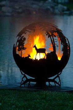 Fabulous Fire Pit Globes Adding Unique Yard Decorations To Backyard Designs