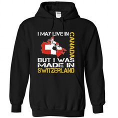 I May Live in Canada But I Was Made in Switzerland (Yel - #christmas gift #gift card. WANT => https://www.sunfrog.com/States/I-May-Live-in-Canada-But-I-Was-Made-in-Switzerland-Yellow-iycykqwfjb-Black-Hoodie.html?68278