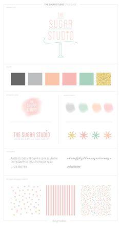 DelightedCo. Brand Style Guide for The Sugar Studio #branding
