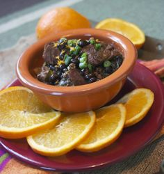 Slow Cooker Brazilian Beef & Black Bean Stew: simplelivingeating.com