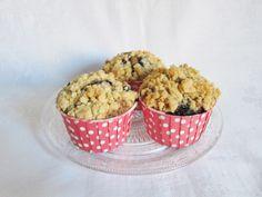 Heidelbeer-Mohn-Muffins mit Streuseln