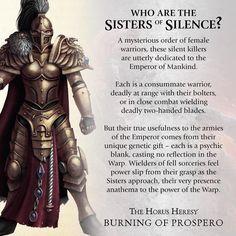 Sisters of Silence Warhammer Lore, Warhammer 40k Space Wolves, Warhammer 40k Memes, Warhammer Fantasy, Warhammer 40000, Warhammer Games, Sisters Of Silence, Legio Custodes, 40k Sisters Of Battle
