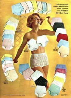 Publicidad de ropa interior. Década de los 60s.
