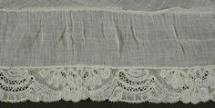 Woman's Fichu Belgium lace made constructed circa LACMA Collections Online Christian Marclay, 18th Century Fashion, 19th Century, Website Sign Up, Women's Chemises, Mori Girl Fashion, Fur Trade, Costume Collection, Neckerchiefs