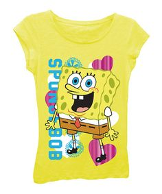 Look what I found on #zulily! Vibrant Yellow SpongeBob Tee - Girls #zulilyfinds