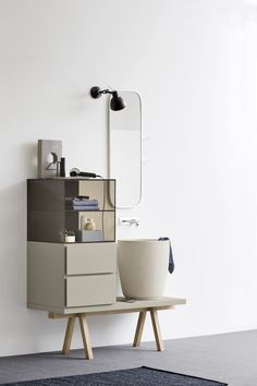 MEUBLE SOUS-VASQUE SIMPLE EN ECOMALTA COLLECTION ESPERANTO BY REXA DESIGN | DESIGN MONICA GRAFFEO