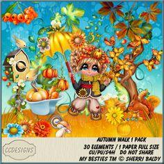 Autumn Walk 1 Pack [CCD] : Scrap and Tubes Store, Digital Scrapbooking Supplies Autumn Walks, Paper Size, Scrapbook Supplies, Digital Scrapbooking, 12 October, Painting, Vector Illustrations, Psp, Digital Image