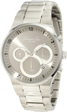 Men's Wrist Watches - Kenneth Cole New York Mens KC9162 Classic 3500 Series Round Chronograph Contemporary SubEye Grey Watch *** Read more at the image link.