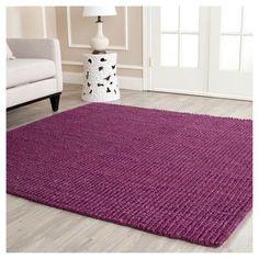 Serena Natural Fiber Area Rug - Purple (8' X 8') - Safavieh