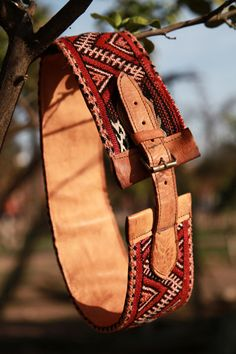 a3ad9d7125ac Items similar to Original Mocro- Kilim Leather Belt on Etsy