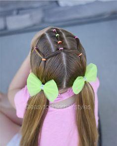 Stunning easy haircut for women. Toddler Hair Dos, Easy Toddler Hairstyles, Easy Little Girl Hairstyles, Girls Hairdos, Baby Girl Hairstyles, Princess Hairstyles, Pretty Hairstyles, Braided Hairstyles, Short Hair Styles