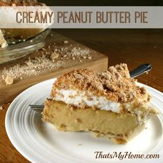 Peanut Butter Pie Recipe from http://thatsmyhome.com