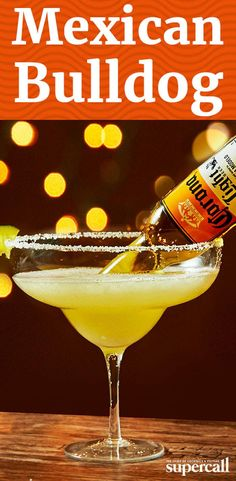 Learn how to make a Mexican Bulldog by flipping a Corona beer into a frozen Margarita for a refreshing party-sized cocktail. Bulldog Drink Recipe, Classic Margarita Recipe, Margarita Recipes, Mexican Cocktails, Cocktails For Parties, Summer Cocktails, Cocktail And Mocktail, Cinco De Mayo, Party