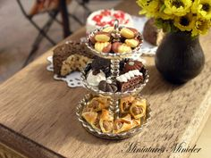 Miniature Dollhouse Cookies Etagere by Minicler on Etsy, $22.47
