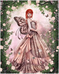 A Fairy Butterfly Lady
