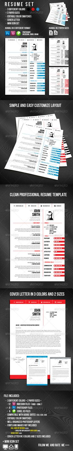 Resume Template, Business resume and Business cards - different resume templates