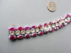 reworked rhinestones on an Eisenberg bracelet. $45 shipped