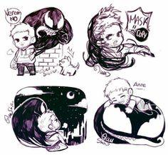 Venom x Eddie by yuushishio Venom Comics, Marvel Venom, Marvel Dc Comics, Marvel Avengers, Venom Art, The Venom, Marvel Funny, Marvel Movies, Eddie Brock Venom