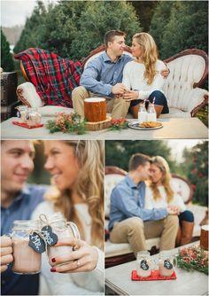 Christmas tree farm engagement ideas & winter wedding decor - click to view more!