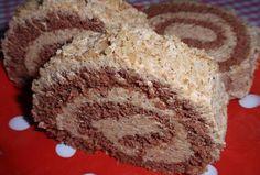 Ořechová roláda s piškotovo-kávovou náplní Czech Desserts, Cake Roll Recipes, Polish Recipes, Rolls Recipe, Nutella, Muffin, Food And Drink, Cooking Recipes, Sweets