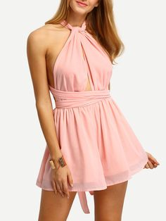 Shop Light Pink Convertible Strap Chiffon Jumpsuit online. SheIn offers Light Pink Convertible Strap Chiffon Jumpsuit & more to fit your fashionable needs.