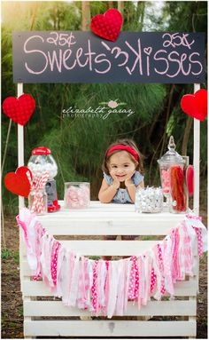Our Stand would make the sweetest kissing booth.   Valentine Photo Shoot | Sweet & Kissing Booth | Elizabeth Garay Photography